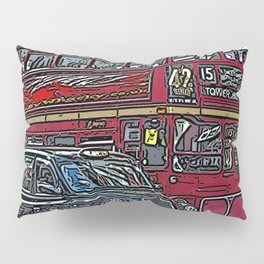 London bus and cab Pillow Sham