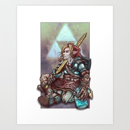 Soul of a Hero - Red Tunic Art Print