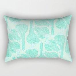 Garlics Pattern in Pastel Green Rectangular Pillow