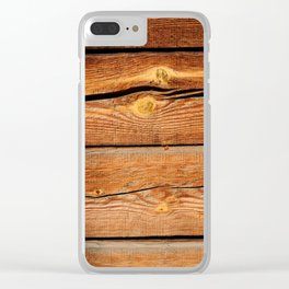 Rustic Wooden Planks  Wood Board Country Gifts Clear iPhone Case