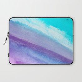 Wet in wet watercolors on textured paper Laptop Sleeve