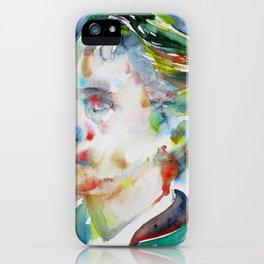 LEOPOLD VON SACHER-MASOCH - watercolor portrait iPhone Case