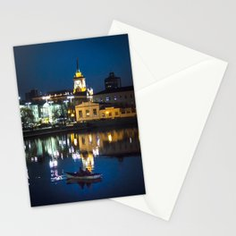 Night in the town Stationery Cards