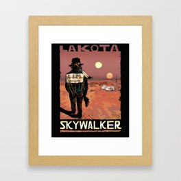 LAKOTA Skywalker Framed Art Print