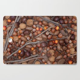 Festive nuts and spices Cutting Board