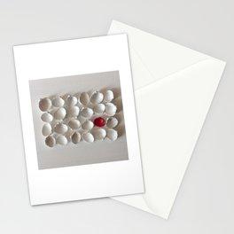 White seashells on white background Stationery Cards