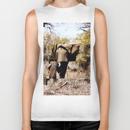 Staggered Elephant Biker Tank