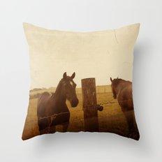 Horse whisper Throw Pillow
