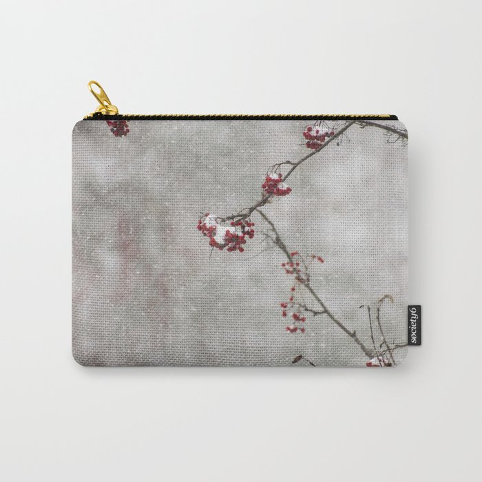 Rowan tree and snow Carry-All Pouch