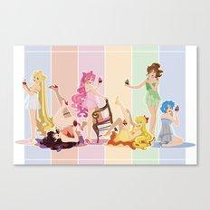 Sailor Moon Pinup - Cupcakes Canvas Print
