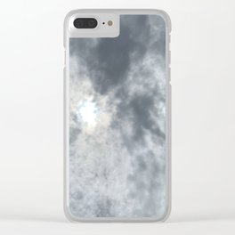 Gloomy sky and clouds Clear iPhone Case