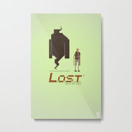Pixel Art Lost Metal Print