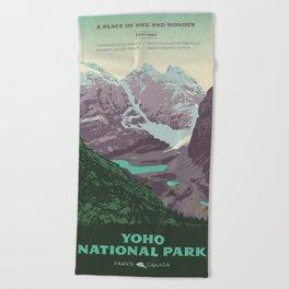 Yoho National Park Poster Beach Towel