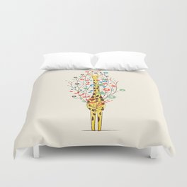 I Brought You These Flowers Duvet Cover