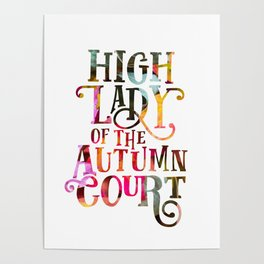 High Lady Of The Autumn Court Poster