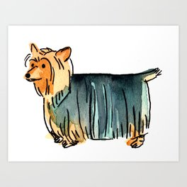 Cashew - Dog Watercolour Painting Art Print