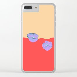 Purples poppies S44 Clear iPhone Case