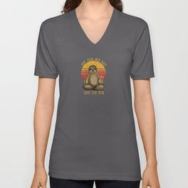Eff You See Kay Why Oh You Funny Vintage Sloth Unisex V-Neck