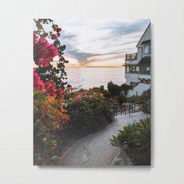 Beach pathways Metal Print
