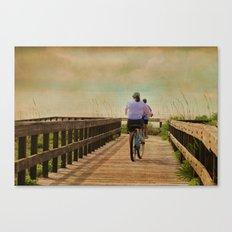 Sunny Day Bike Ride Canvas Print