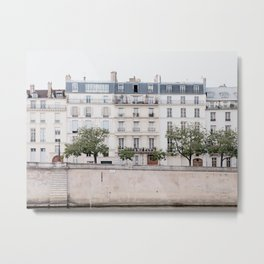 Seine River - Paris France, Architecture, Travel Photography Metal Print