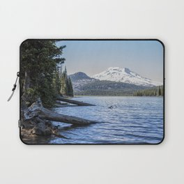 South Sister from Sparks Lake Laptop Sleeve