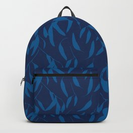Leaf pattern in blue Backpack
