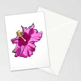 Cute Hibiscus Illustration Stationery Cards