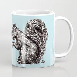 Blue Woodland Creatures - Squirrel Coffee Mug