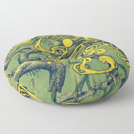 Epiphycadia II: Green Floor Pillow