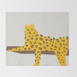 Leopard Lazy Throw Blanket