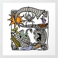 Letter S Print, Mug, Tee Shirt and More  Art Print