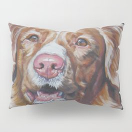 Nova Scotia Duck Tolling Retriever dog portrait from an original painting by L.A.Shepard Pillow Sham