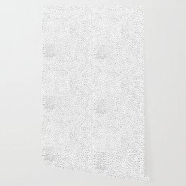 Dotted White & Black Wallpaper