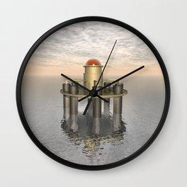 Structure At Sea Wall Clock
