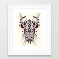 chicago bulls Framed Art Prints featuring bulls by yoaz