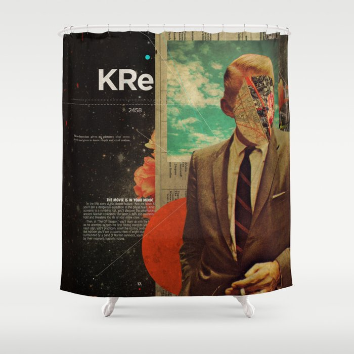 Exhaling My Thoughts Shower Curtain