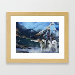 Snow Queen Snowflakes by K.M. Shea book cover Framed Art Print