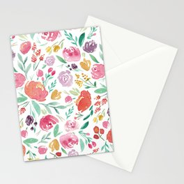 Peony Roses and Floral blooms Stationery Cards