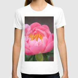 Coral Peony by Teresa Thompson T-shirt