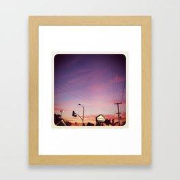 a december evening. Framed Art Print