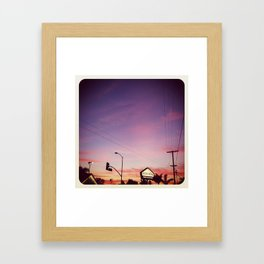 a december evening. Framed Art Print