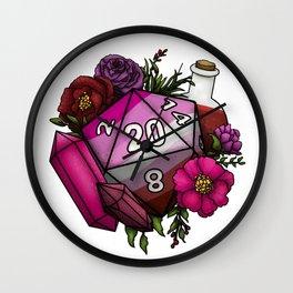 Pride Lesbian D20 Tabletop RPG Gaming Dice Wall Clock