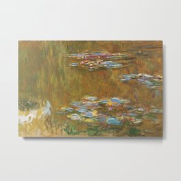 Monet, The Water Lily Pond 1917 Metal Print