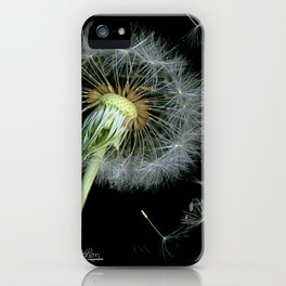 Dandelion Seeds Blowing in the Wind, Scanography iPhone Case