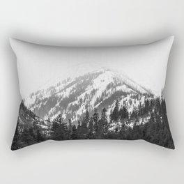 Fading Mountain Winter - Snow Capped Nature Photography Rectangular Pillow