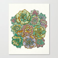 Blooming Succulents Canvas Print