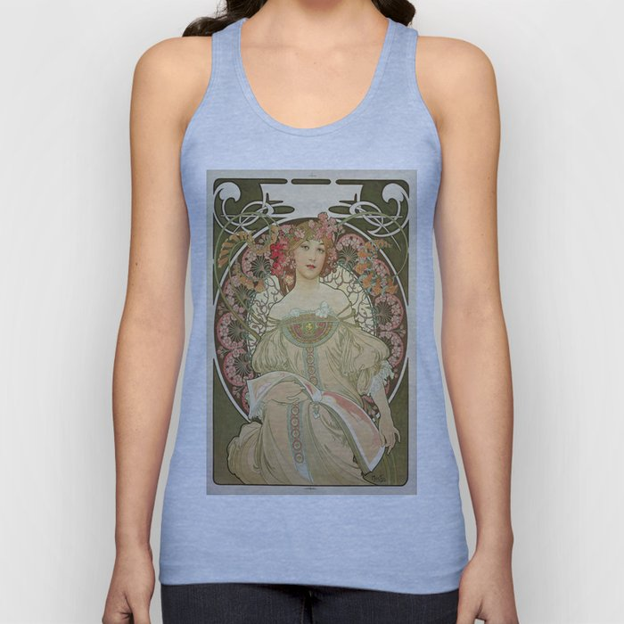 Vintage poster - Woman with flowers Unisex Tank Top