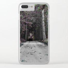 Trippy trail Clear iPhone Case