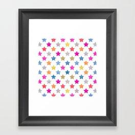 Colorful Star III Framed Art Print